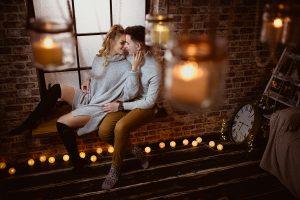 Sedinta Foto de cuplu in decorul de Craciun