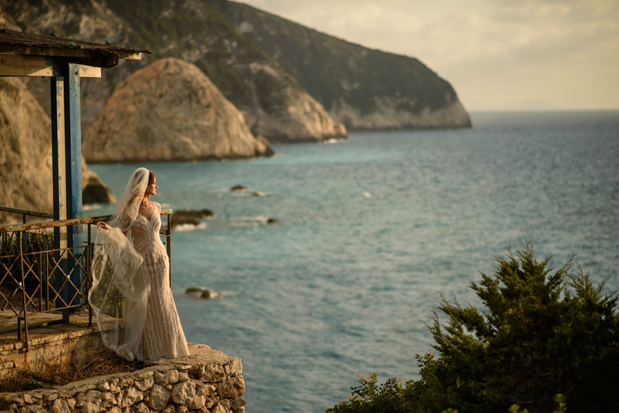 Trash The Dress in Greece, Lefkada